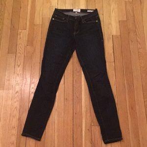 Frame Le Skinny De Jeanne dark denim jeans